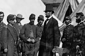 Abraham Lincoln with his Secret Service